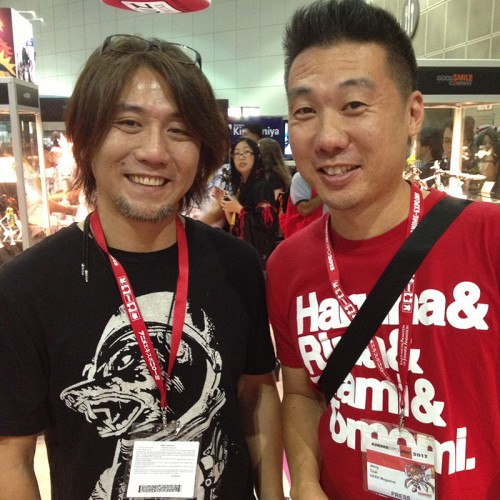 Aki-san and myself.