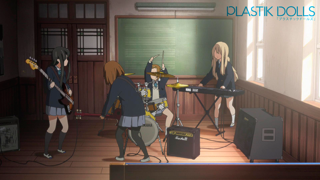 The Light Music Club's clubroom was where most of the series took place. The real life location is a bit wider than the animated version.