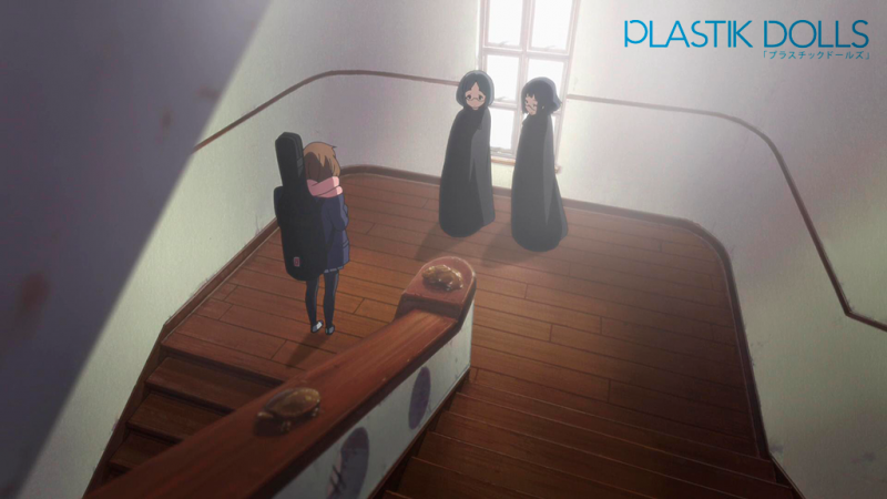 This stairwell landing was featured prominently during K-ON!'s run.