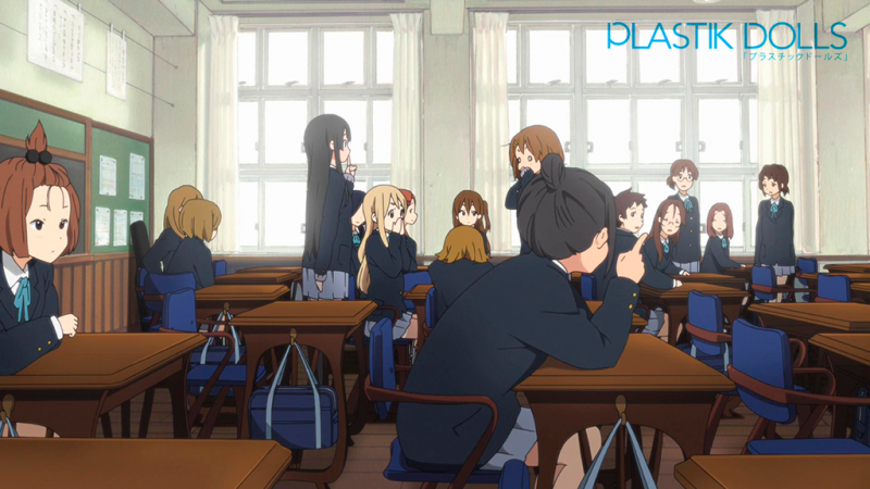 The real life and animated versions of one of the school's class rooms.