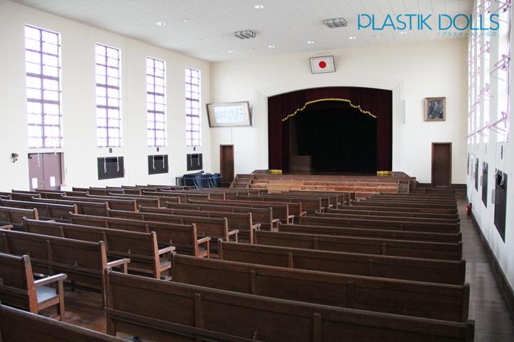 Toyosato Elementary's Auditorium is duplicated and decorated for Sakuragaoka High's graduation ceremony.